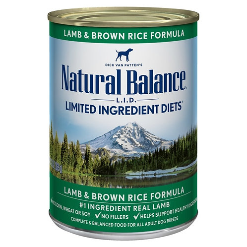 Natural Balance L.I.D. Lamb and Brown Rice Wet Food
