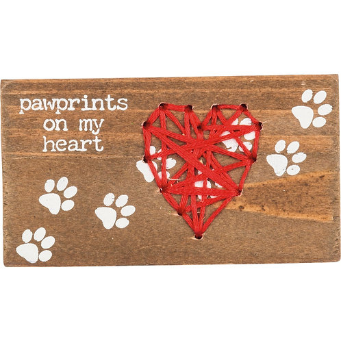 "Magnet "" Pawprints on My Heart """