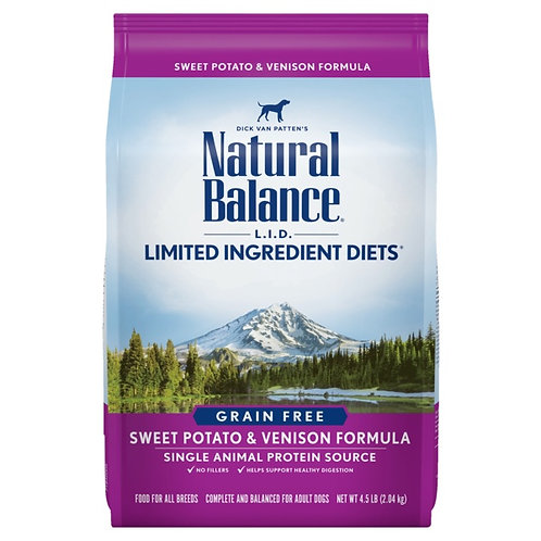 Natural Balance L.I.D. Sweet Potato and Venison Formula