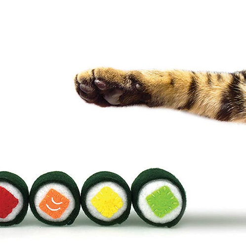Organic Catnip Sushi Toys, 4 Piece Maki Set