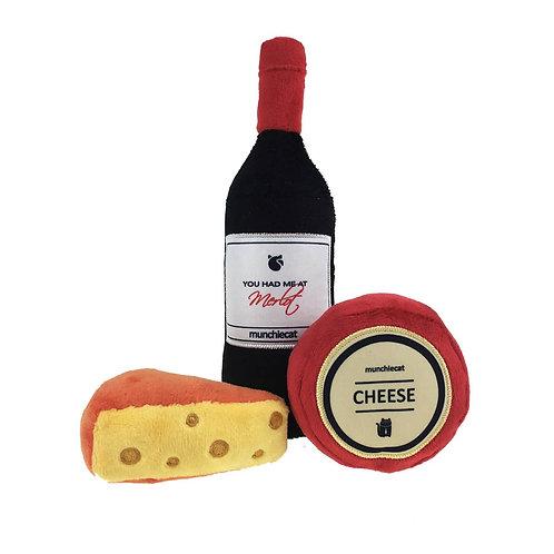Organic Catnip Wine & Cheese 3 Piece Set