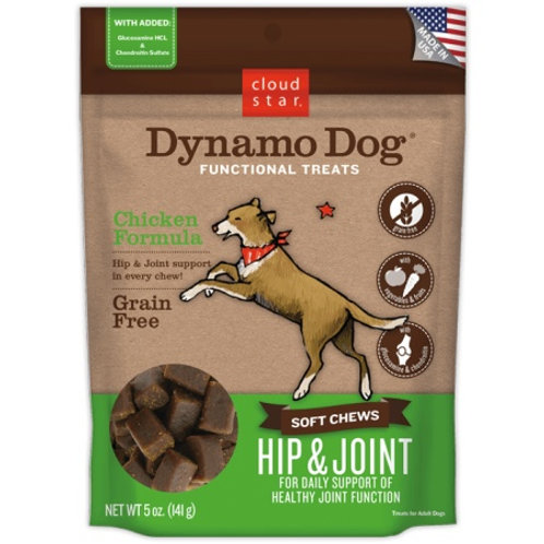 Cloud Star Dynamo Dog Hip & Joint Soft Chews Chicken Formula Dog Treats