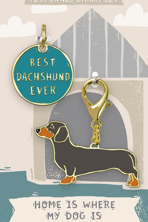 Best Dachshund Ever Charm Set