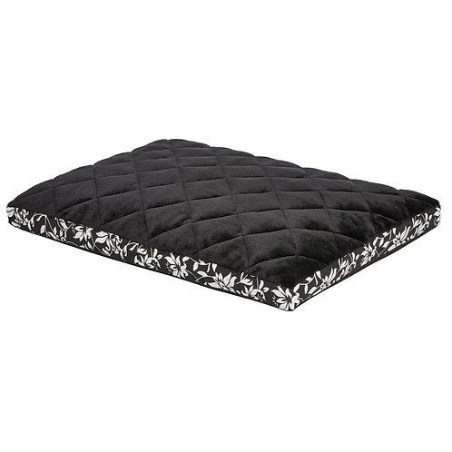 "Quiet Time Crate Mattress Couture Black Floral 24"""