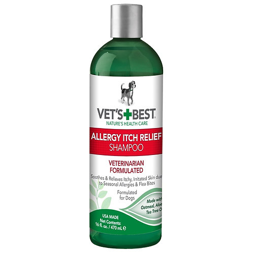 Vet's Best Allergy Itch Relief Dog Shampoo, 16 oz