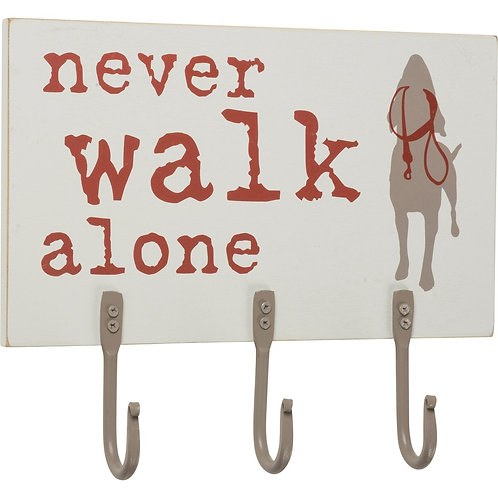 Hook Board- Never Walk Alone