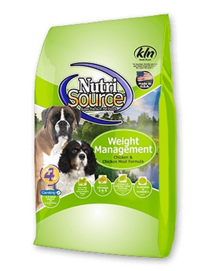 NutriSource Weight Management Chicken and Chicken Meal Dry Dog Food #30
