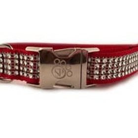 Crimson Sophisticated Pup Bling Collar