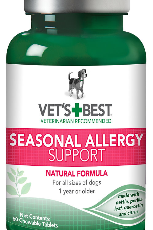 Vet's Best Seasonal Allergy Support Tablets 60 Count