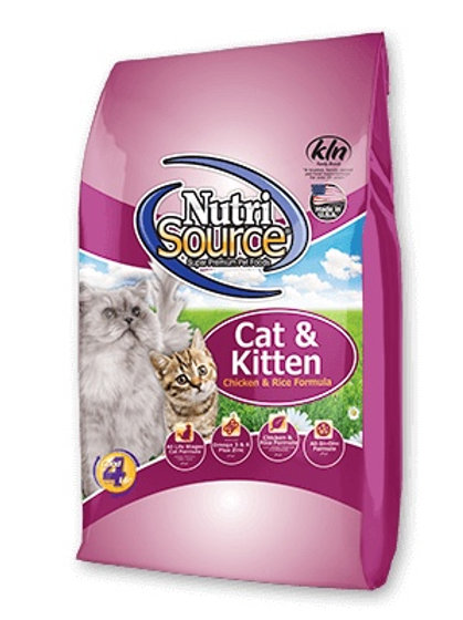 NutriSource Cat and Kitten- Chicken and Rice Formula #16