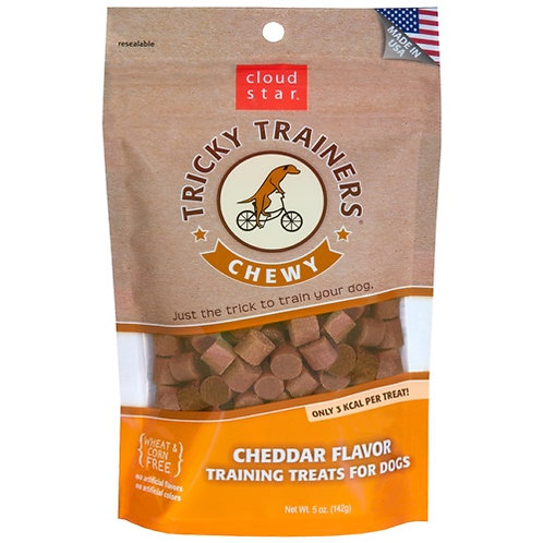 Cloud Star Tricky Trainers Chewy Treats : Cheddar