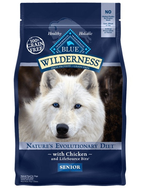 BLUE Buffalo Wilderness Senior Diet Chicken 4.5#
