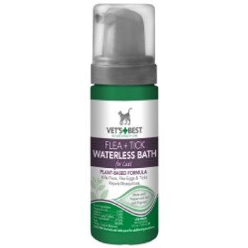 Vet's Best Flea and Tick Waterless Bath Foam Dry Shampoo for Cats, 5 oz