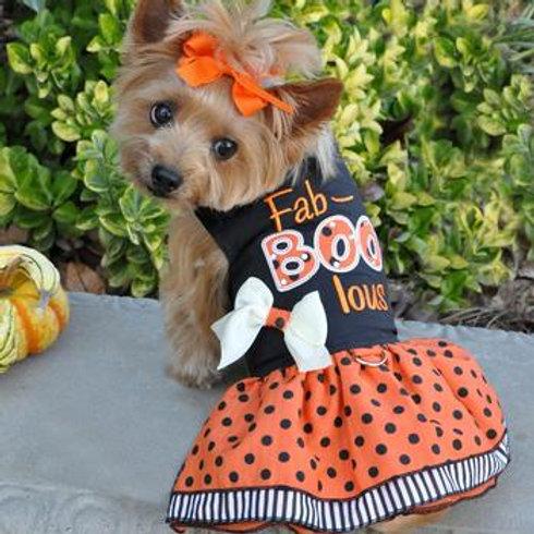 Holiday Dog Harness Dress: Fab-BOO-lous