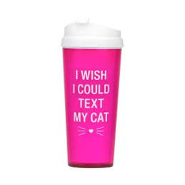 Text My Cat Travel Mug