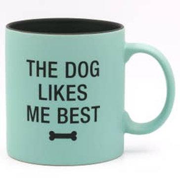 The Dog Likes Me Best Stoneware Mug
