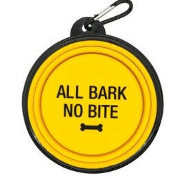 All Bark No Bite Travel Bowl