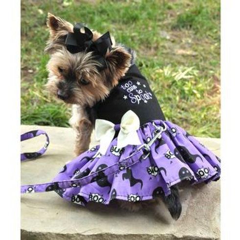 "Halloween Dog Harness Dress ""Too Cute to Spook"""