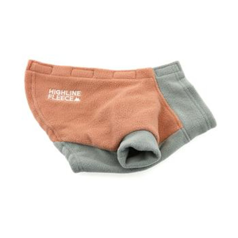 Highline Fleece Dog Coat - Coral and Gray