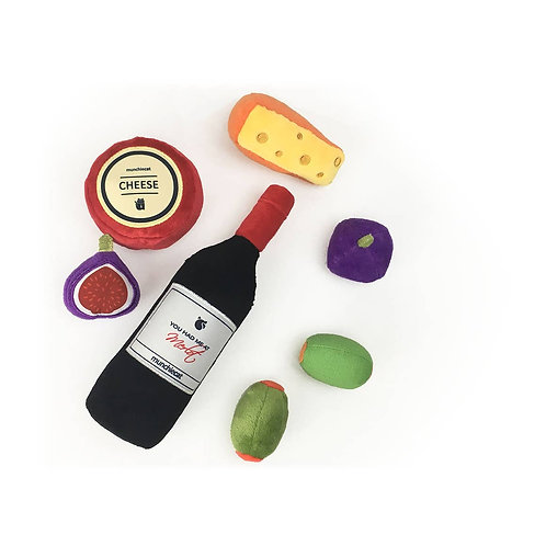 Organic Catnip Wine & Cheese Deluxe 7 Piece Set