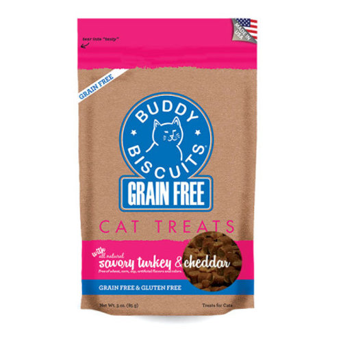 Grain Free Buddy Biscuits for Cats: Savory Turkey & Cheddar
