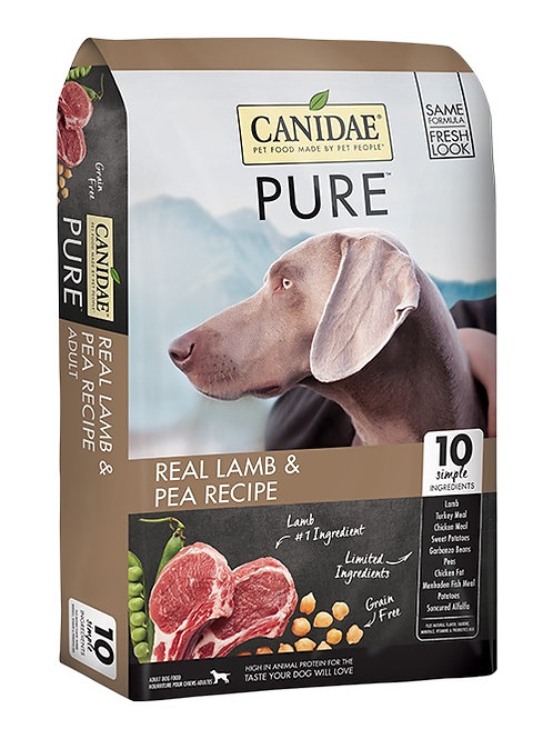 CANIDAE® GRAIN FREE PURE ™ Real Lamb & Pea Recipe 12#