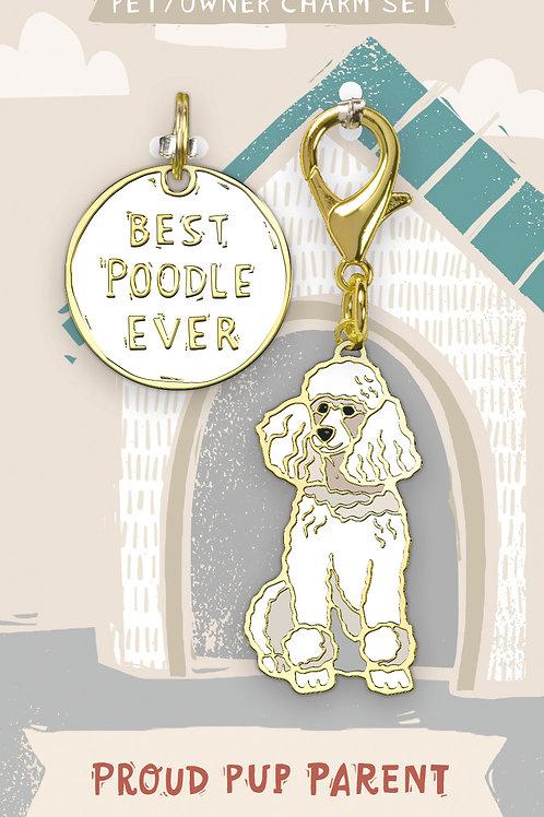 Best Poodle Ever Charm Set