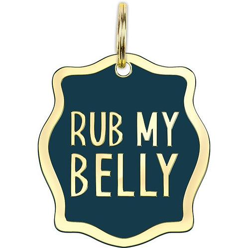 Collar Charm - Rub My Belly