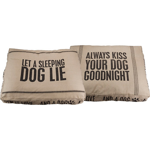 """Dog bed """"Always Kiss Your Dog Goodnight"""""""