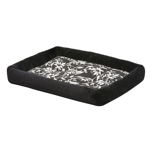 "24"" QuietTime Couture Black Sofia Bolster Crate Pad"