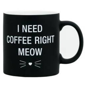 Need Coffee Right Meow Stoneware Mug