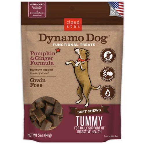 Cloud Star Dynamo Dog Tummy Soft Chews Pumpkin & Ginger Formula Dog Treats