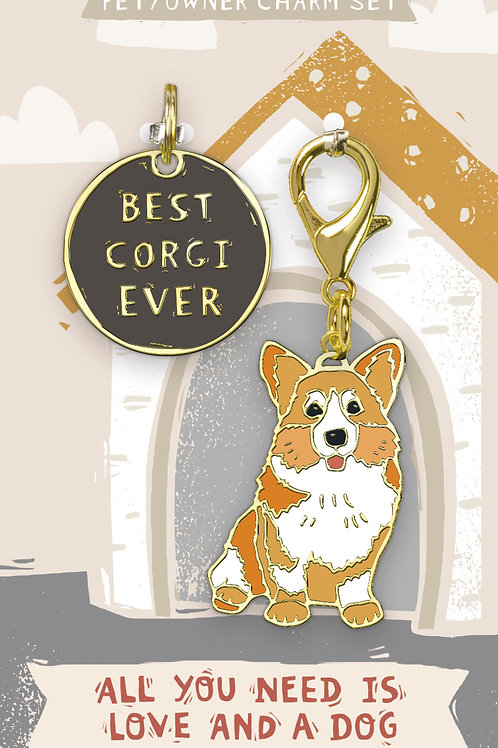 Best Corgi Ever Charm Set