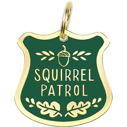 Collar Charm - Squirrel Patrol