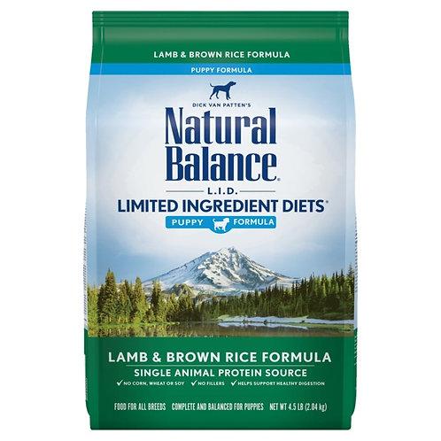 Natural Balance L.I.D. Lamb and Brown Rice, Puppy Formula