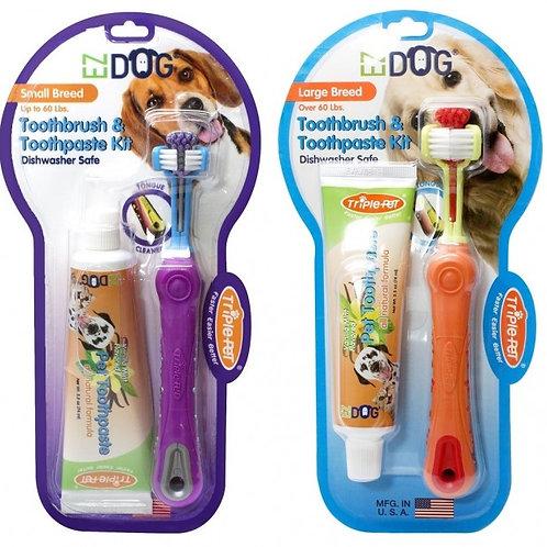 EZ Dog Toothbrush &Toothpaste Kit
