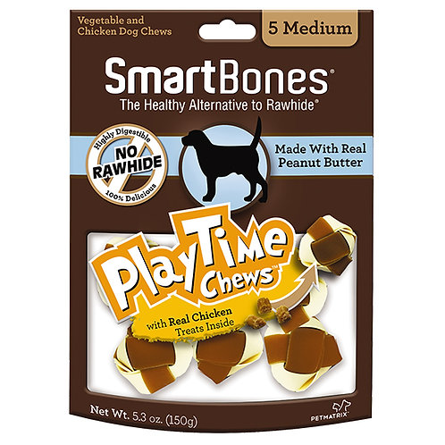 SmartBones® PlayTime Chews Peanut Butter - 10 pack