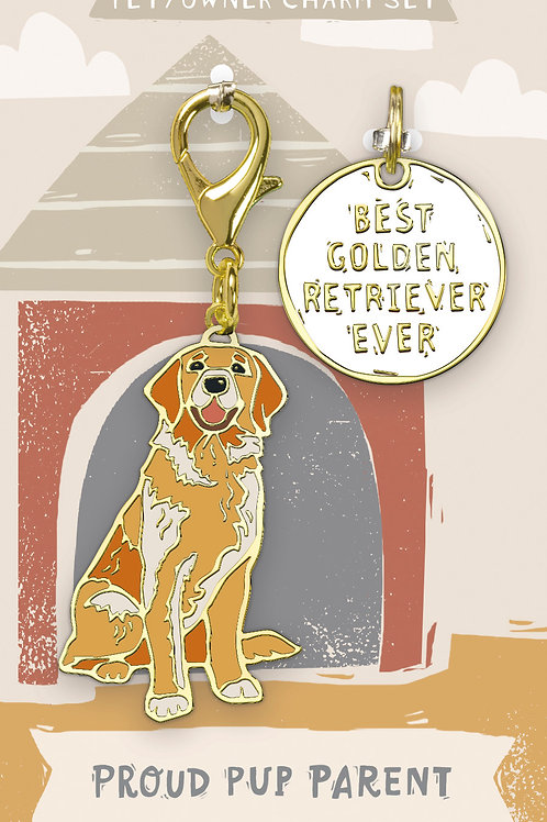 Best Golden Retriever Ever Charm Set