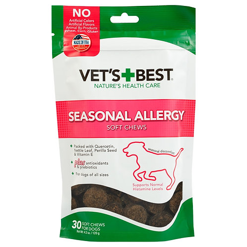 Vet's Best Seasonal Allergy Soft Chews Dog Supplements