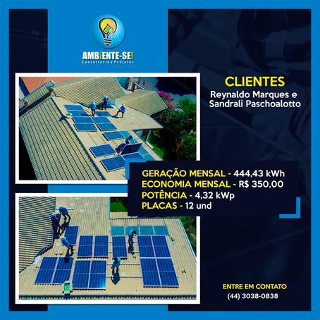 ENERGIA SOLAR - Instalação em Dracena/SP
