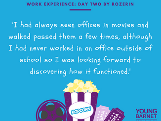 Rozerin's Work Experience Day Two: Work in the YBF Office