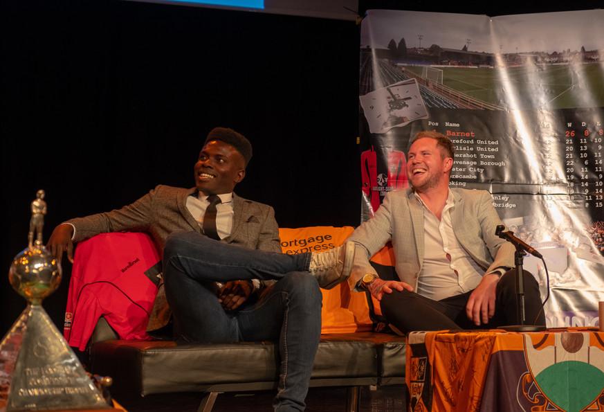 Ismail Yakabu and Simon King ChampionsRe