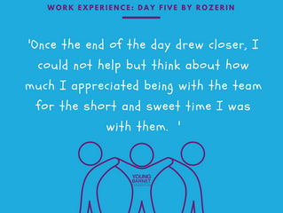 Rozerin's Work Experience Day 5: Work in the Office