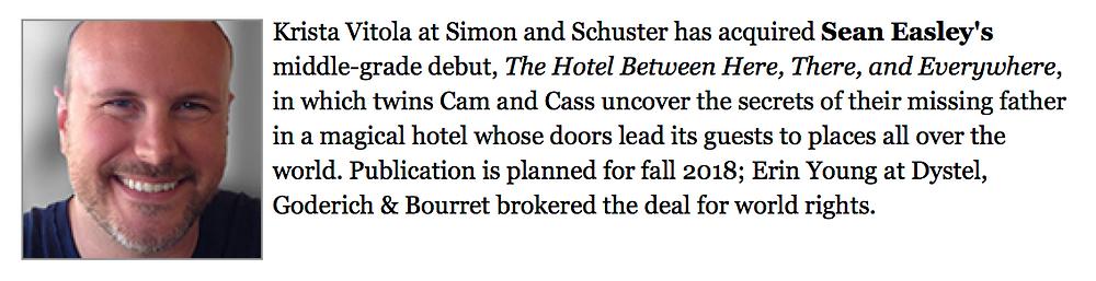 Sean Easley's Hotel Between Industry Announcement