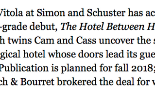 The Hotel Between Here, There, & Everywhere is going to be published!