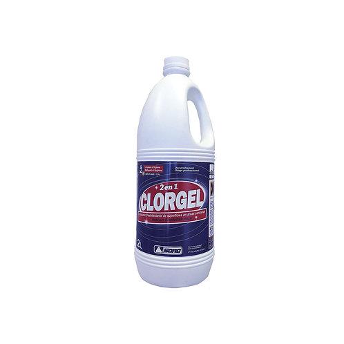 Limpiador desinfectante clorado ámbito sanitario Clorgel 2L