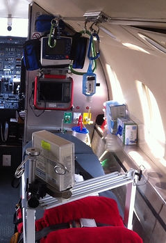 Air ambulance ICU in Chile