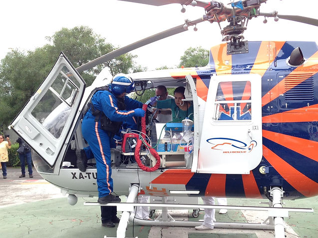 Emergency Medical Helicopter Mexico City