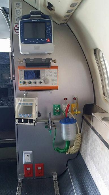 dedicated air ambulance interior