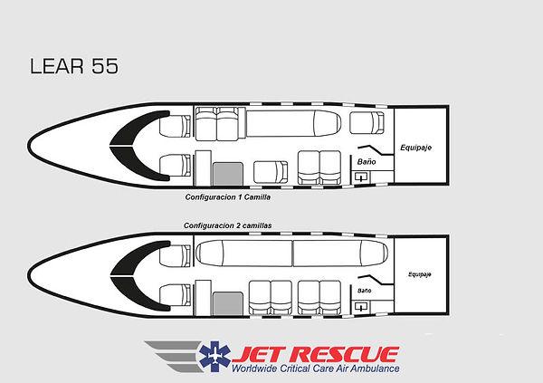 air ambulance interior floorplan